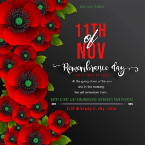 remembrance day ceremony instagram post Instagram-bericht template