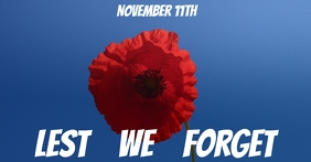Remembrance Day Image partagée Facebook template