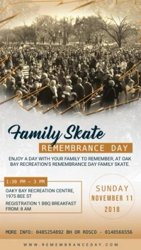 Remembrance Day Family Event Digital Display Ad Ekran reklamowy (9:16) template