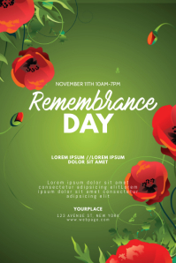 Remembrance Day Flyer Design Template Poster