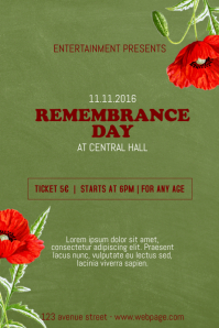 Remembrance Day Flyer Template