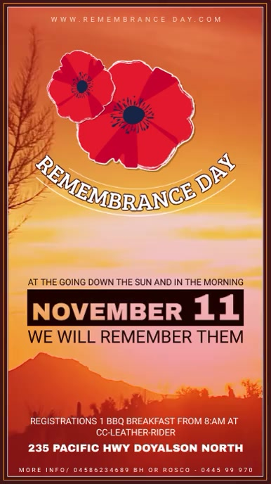 Remembrance Day Fundraiser Event Digital Display Ad
