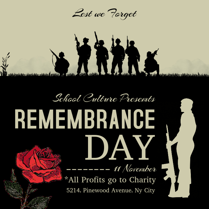 Remembrance Day Fundraiser Instagram Post Template