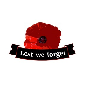 remembrance day icon logo template