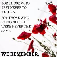 Remembrance Day Memorial Template Square (1:1)