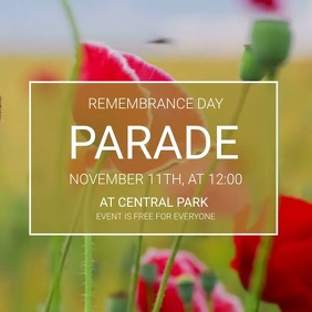Remembrance Day parade video template Instagram na Post