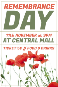 remembrance day poster templates postermywall