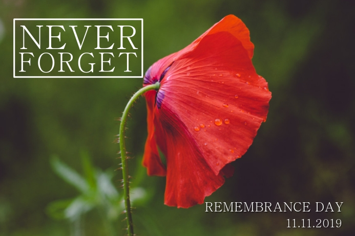 Remembrance Day Poster Template