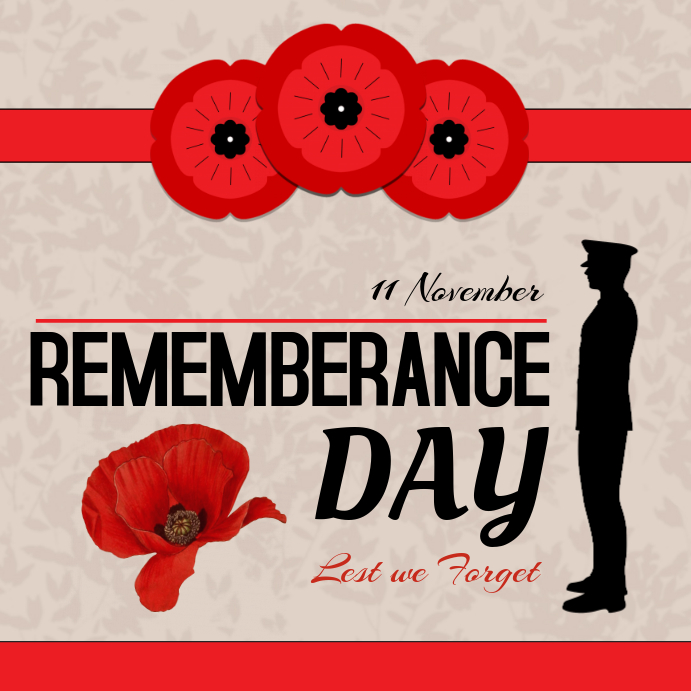 Remembrance Day Public Service Instagram Post Template Instagram-opslag