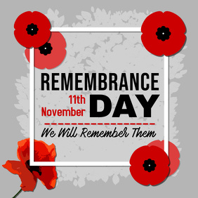 Remembrance Day Quote Instagram Post Template Instagram-Beitrag