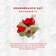 Remembrance Day Quotes Instagram Post template