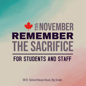 Remembrance Day School Event Advertisement Template