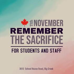 Remembrance Day School Event Advertisement Template Publicação no Instagram