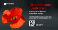 Remembrance Fundraiser Facebook Event Cover template