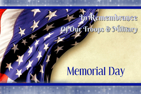 Remembrance Memorial Day 2018 Poster