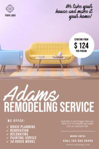 Remodeling service flyer design template