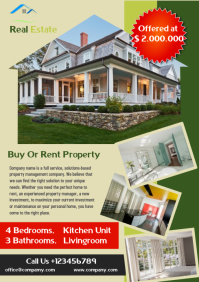 Rent Or Buy Property Flayer