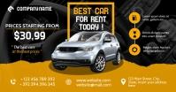 Rental car facebook advertisement template
