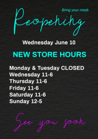 Reopening A4 Work Hours