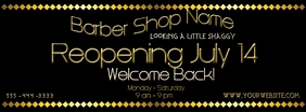 Reopening Barber Shop Facebook Cover Photo