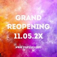 Reopening Color Splash happy Opening celebrat Instagram Post template