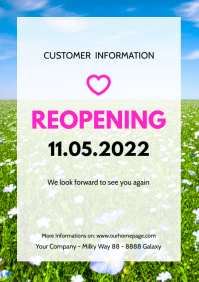 reopening Customer information Poster flyer