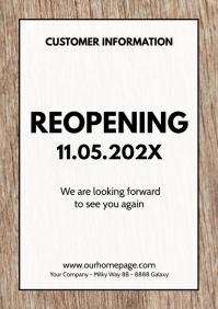 reopening Flyer Poster Sign Door Notice