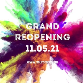 Reopening grand opened open Promotion Store s
