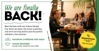 Reopening Indoor Dining Facebook Post Image template