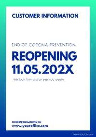Reopening information customers door ad