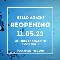 Reopening Open aigain Advert Promotion