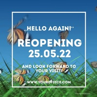 Reopening Open aigain Flyer Poster Advert Pro