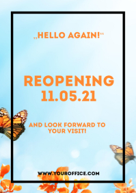 Reopening Open aigain Flyer Poster A4 template