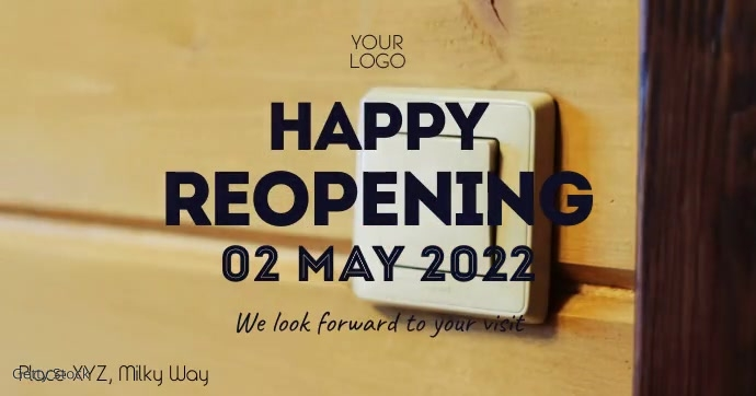 Reopening opening video glam glitter gold inv template