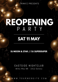 Reopening Party balloons Sun heaven flyer