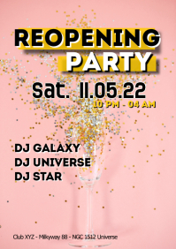 Reopening Party Celebration Event Dance Ad