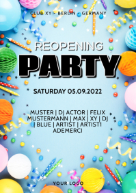Reopening Party celebration Poster Flyer Adve
