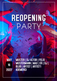Reopening Party Event Club Promotion Ad