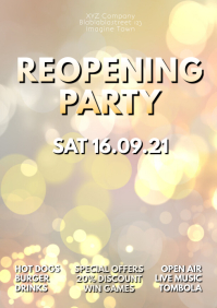 Reopening Party Event Flyer Poster Shine GLam