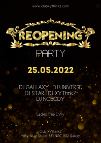 Reopening Party Event Special Advert