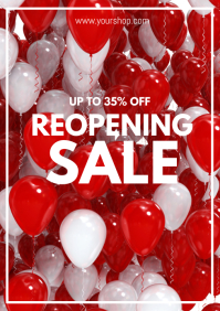 Reopening Sale Poster Flyer Template Ad