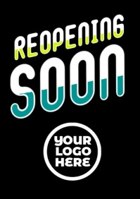 Reopening Soon Business video flyer