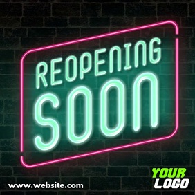 Reopening Soon neon sign display video