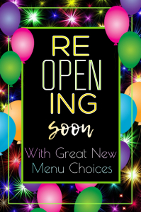 ReOpening Soon Poster template
