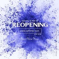 Reopening Video Splash Color Blue Event
