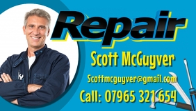 Repair Service Business Card template