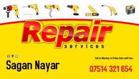 Repair service business card Wizytówka template