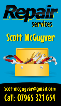 Repair Service Business Card