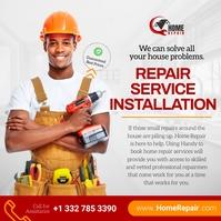 Repair service installation Instagram post template