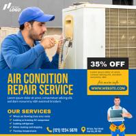Repair Services Advert โพสต์บน Instagram template